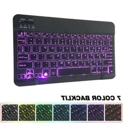 """10"""" Wireless Bluetooth Backlit Keyboard Slim For Mac Android"""