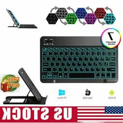 10 wireless bluetooth keyboard colorful backlit
