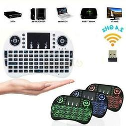 1x 3 Colors Backlit 2.4GHz Wireless Keyboard Touchpad for Sm