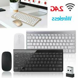 2.4G Mini Wireless Keyboard And Mouse Combo Set For Computer