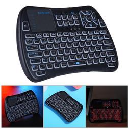 2.4G Mini Wireless Keyboard IR Backlight Remote Touchpad for