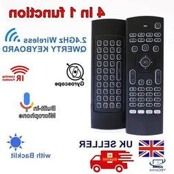 2.4G Wireless Backlit Remote Control Keyboard Air Mouse With