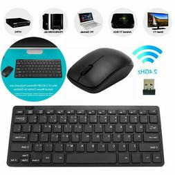 2.4G Wireless Keyboard and Cordless Mouse Combo Slim Multime
