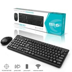 2.4G Wireless Keyboard Mouse Set Office Game 104 Keys Pad Fo