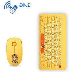 FD 2.4G Wireless Keyboard Mouse Wrist Rest Pad Set Combo Kit