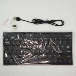 Arteck 2.4G Wireless Keyboard Stainless Steel Ultra Slim Key