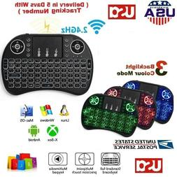 2 4ghz backlight wireless touchpad rechargeable keyboard
