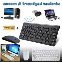 2.4GHZ USB Wireless Slim Keyboard For PC Laptop and Cordless
