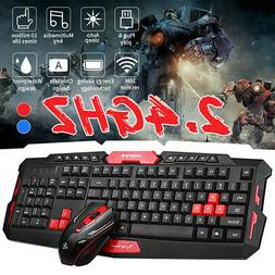 2.4GHz Wireless Gaming Gamer Keyboard And Mouse Set For Desk