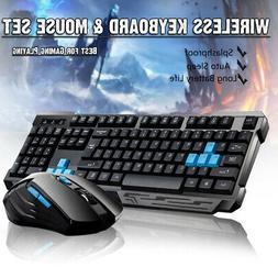2.4GHz  Wireless Gaming Keyboard And Mouse Bundle USB 6 Key