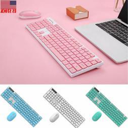 2.4GHz Wireless Keyboard Combo Colored Floating Keys Keyboar