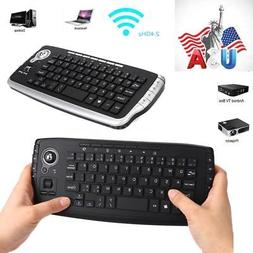 2.4GHz Wireless Keyboard with Trackball Mouse Scroll Wheel R