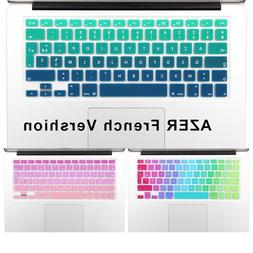 2016 Gradient Color Silicone French AZERTY <font><b>Keyboard