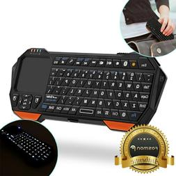 30ft Range Mini Wireless Bluetooth Keyboard w/ Touch Pad for