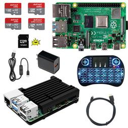 Raspberry Pi 4 Model B DIY  Kit - Metal Case NOOBS Ultra-Sil