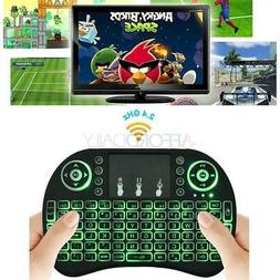 5 X 3Color Backlight Mini i8 Wireless 2.4GHz Keyboard Remote