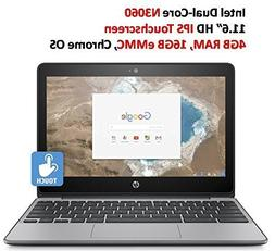 """2018 Newest HP 11.6"""" HD IPS Touchscreen Chromebook with 3x"""