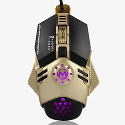 Waymine 4800 DPI 6D Buttons LED Mechanical Wired Working Gam