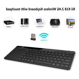 All in one Rii Wireless Keyboard Touchpad Air Mouse+Remote F