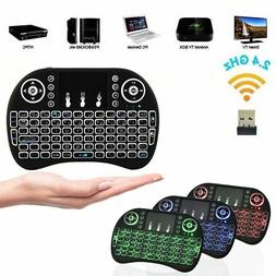 Color Backlit Wireless Keyboard+Touchpad Mouse 2.4GHz for An