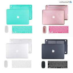 Hard Case Shell Keyboard Cover Wireless Mice Set Macbook Pro