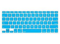 Kuzy - AQUA BLUE Keyboard Cover Silicone Skin for MacBook Pr