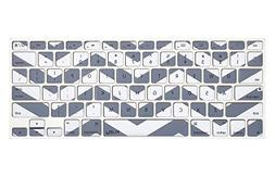 Kuzy Gray Chevron Zig-Zag Keyboard Cover for MacBook Pro 13""
