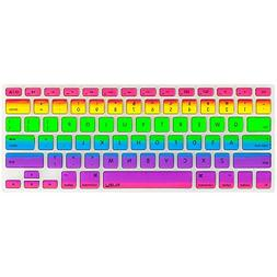 Kuzy Rainbow Keyboard Cover Silicone Skin for MacBook Pro 13