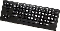 Ablenet wireless visionBoard keyboard - black keys with whit
