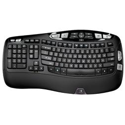 Logitech K350 Wireless Wave Ergonomic Keyboard w/Unifying Re