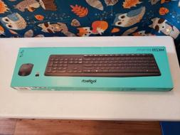 Logitech MK235 USB Wireless Optical Keyboard and Mouse Set,