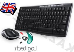 Logitech MK270 Wireless UK QWERTY KeyBoard and Mouse Desktop
