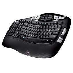 Logitech - MK570 Comfort Wave Wireless Keyboard and Optical