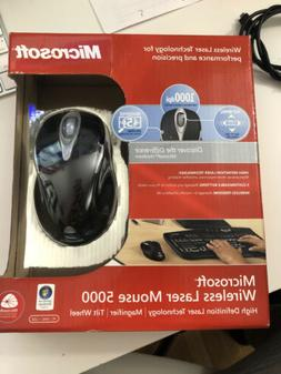 Microsoft Wireless Laser Mouse 5000 - Metallic Black