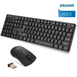 Philips 2.4G USB Wireless Keyboard Mouse Cordless Combo for