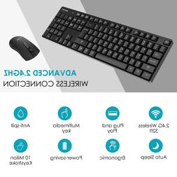Philips 2.4G USB Wireless Keyboard Mouse Mice Combo Set for
