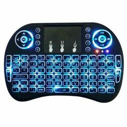 Rechargeable 2.4GHz Backlit Wireless Keyboard Touchpad Air F
