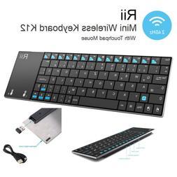 Rii K12 UltraSlim Wireless Keyboard Mouse Touchpad Metal Tab