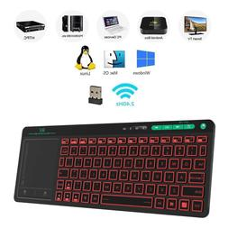 Rii K18 3-LED Color 2.4GHz Wireless Keyboard With build-in L