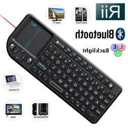 Rii Mini Wireless Bluetooth Keyboard Touchpad with Laser Poi