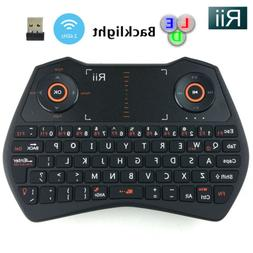 Rii Wireless i28 Mini Keyboard Air Mouse Touchpad Voice for