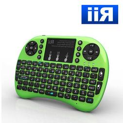 Rii i8+ Mini Wireless Keyboard with Touchpad Mouse, LED Back