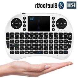 Rii i8BT Bluethooth Mini Keyboard Mouse Touchpad Tablets Pho