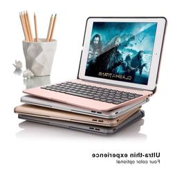 TOP F06 9.7'' Bluetooth Wireless Keyboard Case Slim Alumin