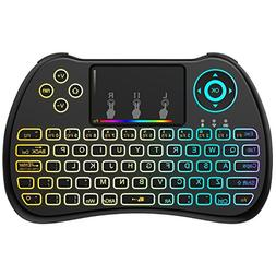 Aerb 2.4GHz Colorful Backlit Mini Wireless Keyboard with Mo