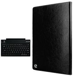 VanGoddy Alpha, Slim Black Folio Case w/ Wireless Keyboard f