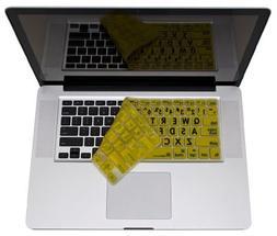 Apple Ultra Thin LogicSkin Black on Yellow Keyboard Skins Co