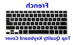 HRH AZERTY French Language Keyboard Cover Silicone Skin for