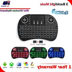 BACKLIGHT Mini Wireless Keyboard i8 2.4GHz with Touchpad for