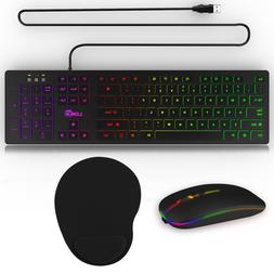 Backlit Computer Wired Gaming RGB Keyboard Desktop / LED Lig